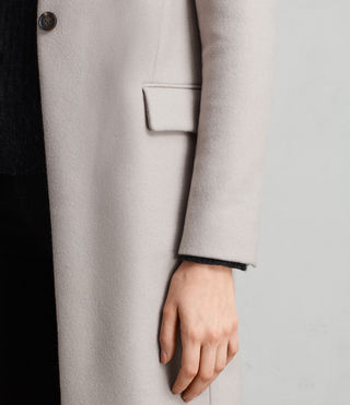 Womens Evelyn Coat (MOTH GREY) - Image 6