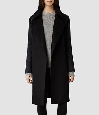 Womens Edita Coat (Black/Ink)