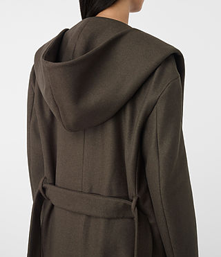 Women's Scala Coat (Khaki Green) - product_image_alt_text_5