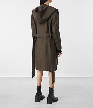 Women's Scala Coat (Khaki Green) - product_image_alt_text_6