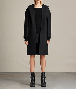 Womens Scala Coat (Black) - product_image_alt_text_1