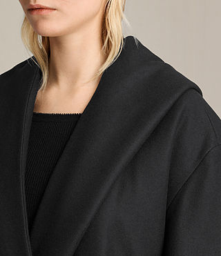 Women's Scala Coat (Black) - product_image_alt_text_2