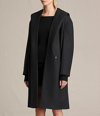 Women's Scala Coat (Black) - product_image_alt_text_3