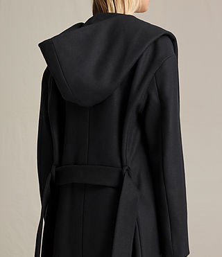 Women's Scala Coat (Black) - product_image_alt_text_4