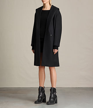 Women's Scala Coat (Black) - product_image_alt_text_5