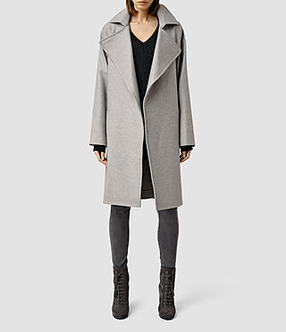 Womens Miya Coat (Pale Grey)