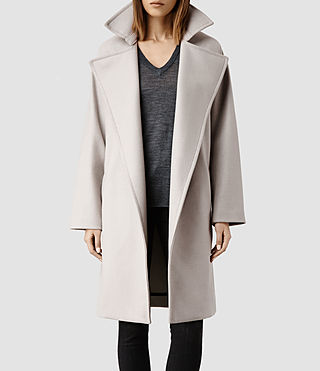Womens Miya Coat (Pebble)
