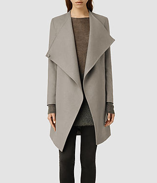 Womens Ora Coat (Light Khaki)