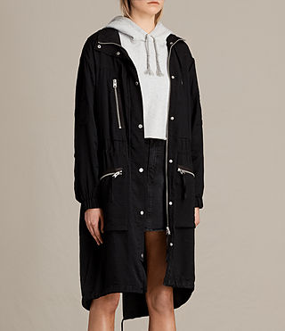 Mujer Agnes Parka (Black) - product_image_alt_text_3