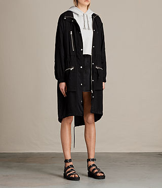 Mujer Agnes Parka (Black) - product_image_alt_text_5