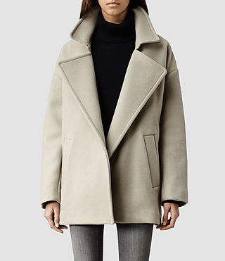 Womens Suki Coat (Pebble)