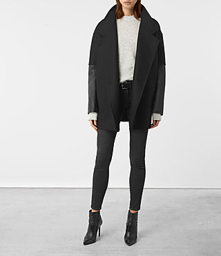 Mujer Meade Lea Coat (Black) - product_image_alt_text_1