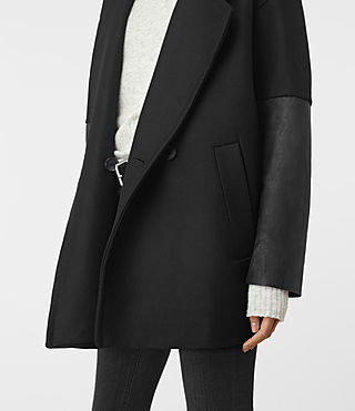 Mujer Meade Lea Coat (Black) - product_image_alt_text_2