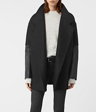 Mujer Meade Lea Coat (Black) - product_image_alt_text_3