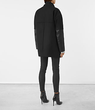 Mujer Meade Lea Coat (Black) - product_image_alt_text_5