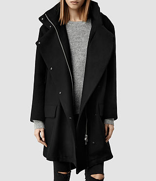 Womens Odetta Parka (Black)