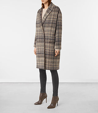 Mujer Atticus Rena Coat (OAT CHECK) - product_image_alt_text_4