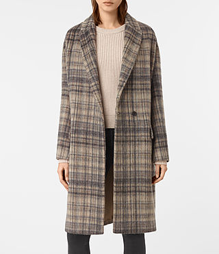 Mujer Atticus Rena Coat (OAT CHECK) - product_image_alt_text_5