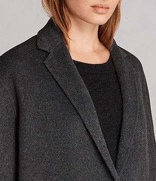 Femmes Manteau Anya (Charcoal Grey) - product_image_alt_text_2