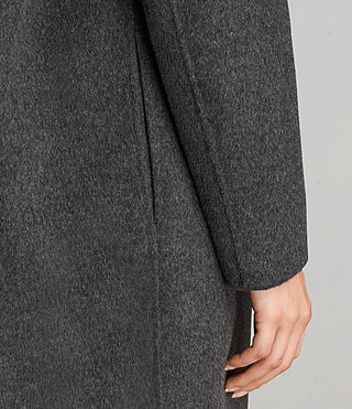 Femmes Manteau Anya (Charcoal Grey) - product_image_alt_text_5