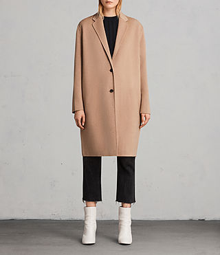 Womens Anya Coat (CAMEL BROWN) - Image 1