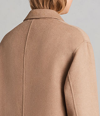 Womens Anya Coat (CAMEL BROWN) - Image 2