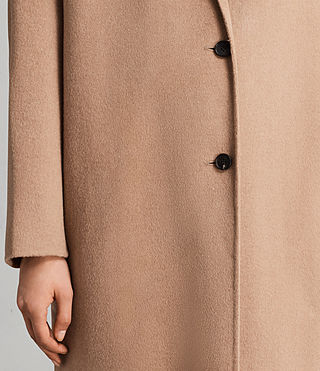 Womens Anya Coat (CAMEL BROWN) - Image 3