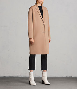 Womens Anya Coat (CAMEL BROWN) - Image 4