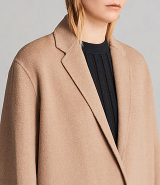 Womens Anya Coat (CAMEL BROWN) - Image 6