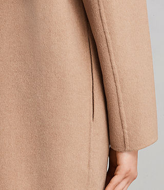 Womens Anya Coat (CAMEL BROWN) - Image 7
