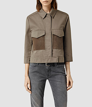 Womens Ashe Jacket (Dark Khaki Green)