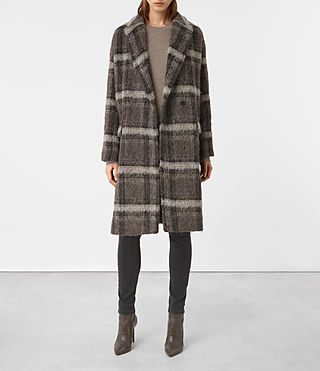 Women's Atticus Coat (Brown Chk)
