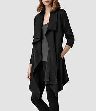 Womens Hoxton Monument Coat (Black) - product_image_alt_text_1