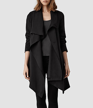 Womens Hoxton Monument Coat (Black) - product_image_alt_text_2