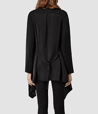 Womens Hoxton Monument Coat (Black) - product_image_alt_text_3