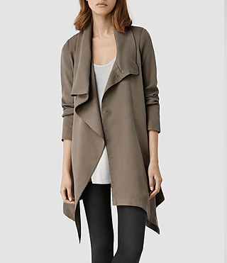 Womens Hoxton Monument Coat (Taupe)
