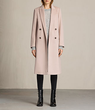 Mujer April Coat (Dusty Pink)