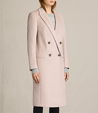 Womens April Coat (Dusty Pink) - product_image_alt_text_2