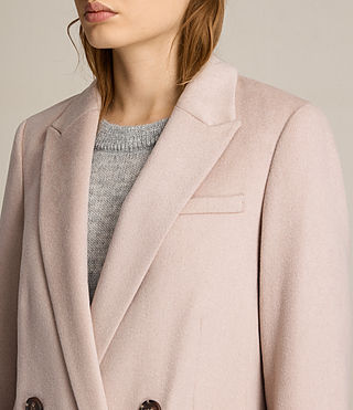 Womens April Coat (Dusty Pink) - product_image_alt_text_3