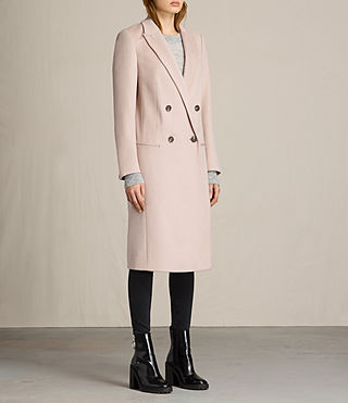 Womens April Coat (Dusty Pink) - product_image_alt_text_4