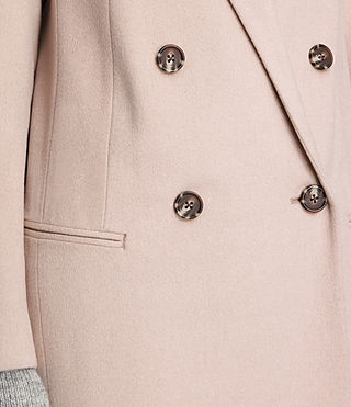 Womens April Coat (Dusty Pink) - product_image_alt_text_5