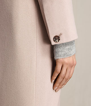 Womens April Coat (Dusty Pink) - product_image_alt_text_6
