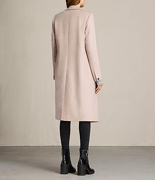 Womens April Coat (Dusty Pink) - product_image_alt_text_7