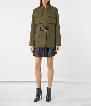 Womens Kaia Jacket (Khaki Green)