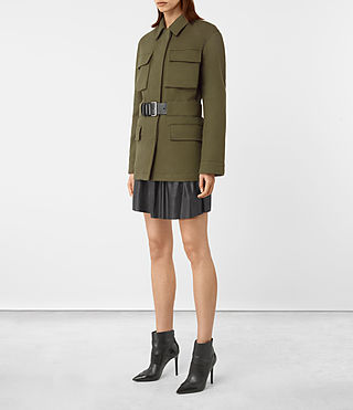 Womens Kaia Jacket (Khaki Green) - product_image_alt_text_2