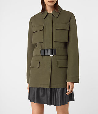 Womens Kaia Jacket (Khaki Green) - product_image_alt_text_4