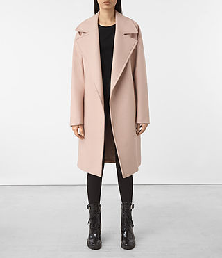 Womens Indira Nesi Coat (Dusty Pink)
