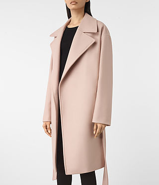 Damen Indira Nesi Coat (Dusty Pink) - product_image_alt_text_2