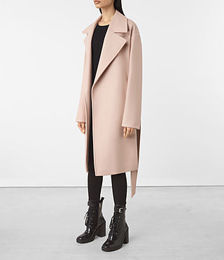 Damen Indira Nesi Coat (Dusty Pink) - product_image_alt_text_3