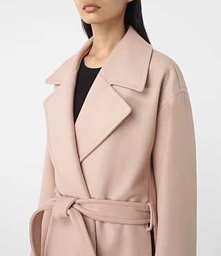 Mujer Indira Nesi Coat (Dusty Pink) - product_image_alt_text_4